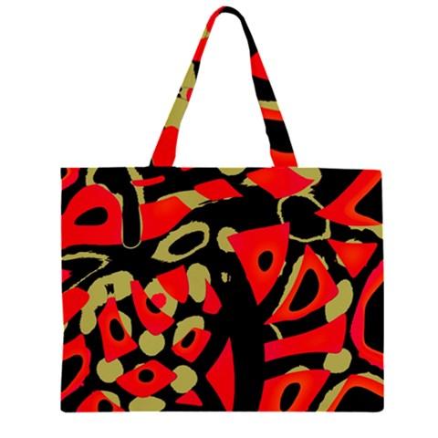 Red artistic design Large Tote Bag