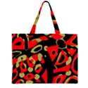 Red artistic design Large Tote Bag View1