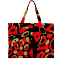Red artistic design Large Tote Bag View2