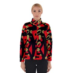 Red artistic design Winterwear