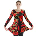 Red artistic design Long Sleeve Tunic  View1