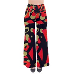 Red Artistic Design Pants