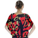 Red artistic design Blouse View2
