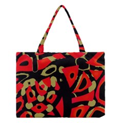 Red artistic design Medium Tote Bag