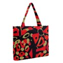 Red artistic design Medium Tote Bag View2