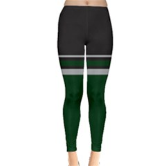 Black and Green Blocks Leggings
