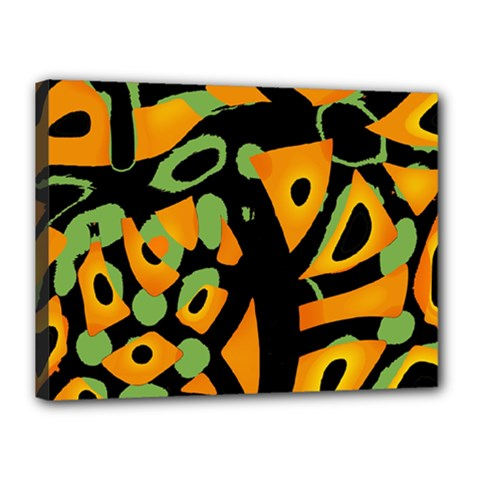 Abstract Animal Print Canvas 16  X 12