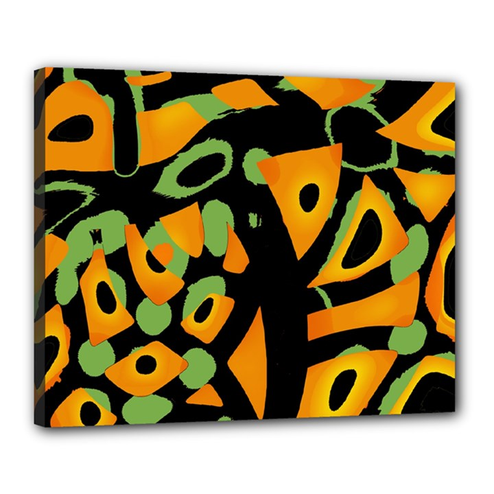 Abstract animal print Canvas 20  x 16