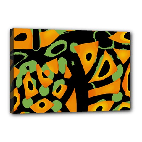 Abstract animal print Canvas 18  x 12
