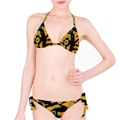Abstract animal print Bikini Set