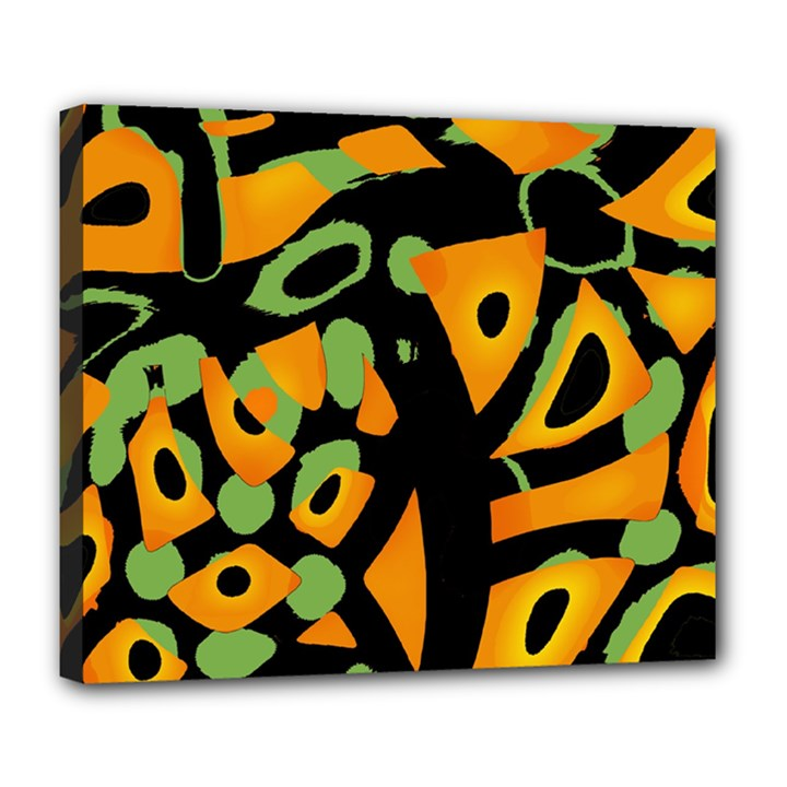 Abstract animal print Deluxe Canvas 24  x 20