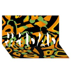 Abstract animal print #1 DAD 3D Greeting Card (8x4)
