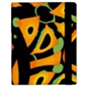 Abstract animal print Samsung Galaxy Tab 10.1  P7500 Flip Case View3