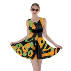 Abstract animal print Skater Dress