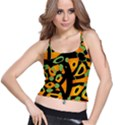 Abstract animal print Spaghetti Strap Bra Top View1