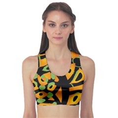 Abstract animal print Sports Bra