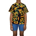 Abstract animal print Kids  Short Sleeve Swimwear View1