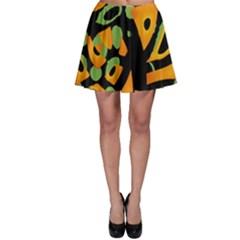 Abstract animal print Skater Skirt