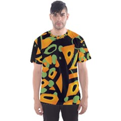 Abstract Animal Print Men s Sport Mesh Tee