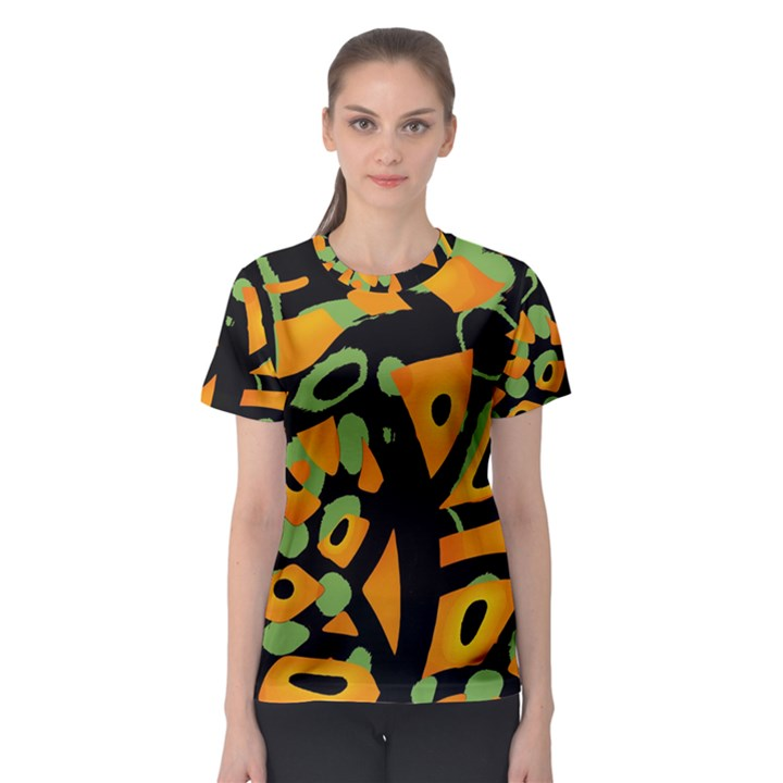 Abstract animal print Women s Sport Mesh Tee