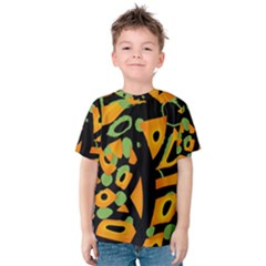 Abstract animal print Kids  Cotton Tee