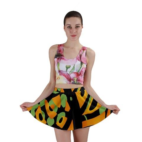 Abstract animal print Mini Skirt