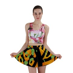 Abstract animal print Mini Skirt