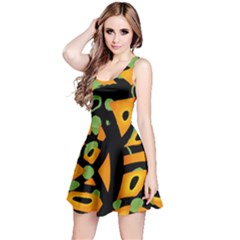 Abstract animal print Reversible Sleeveless Dress