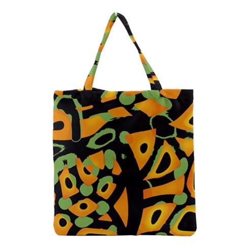 Abstract animal print Grocery Tote Bag
