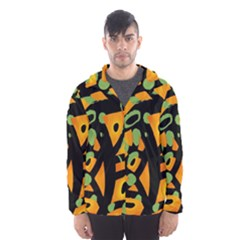 Abstract Animal Print Hooded Wind Breaker (men)