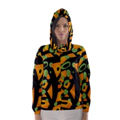 Abstract animal print Hooded Wind Breaker (Women)