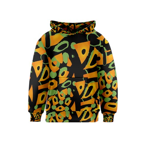 Abstract animal print Kids  Pullover Hoodie