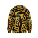 Abstract animal print Kids  Pullover Hoodie View2