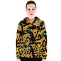 Abstract animal print Women s Zipper Hoodie View1