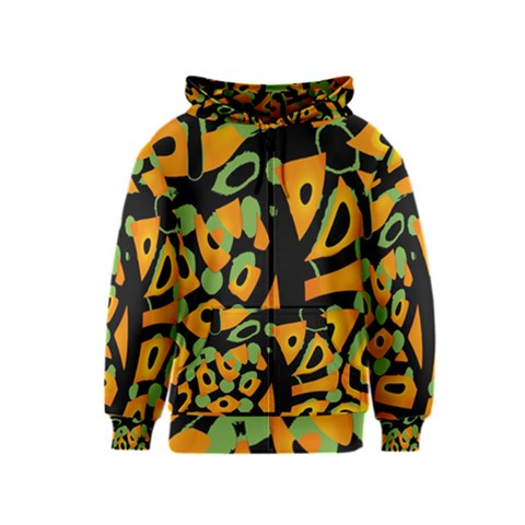 Abstract animal print Kids  Zipper Hoodie