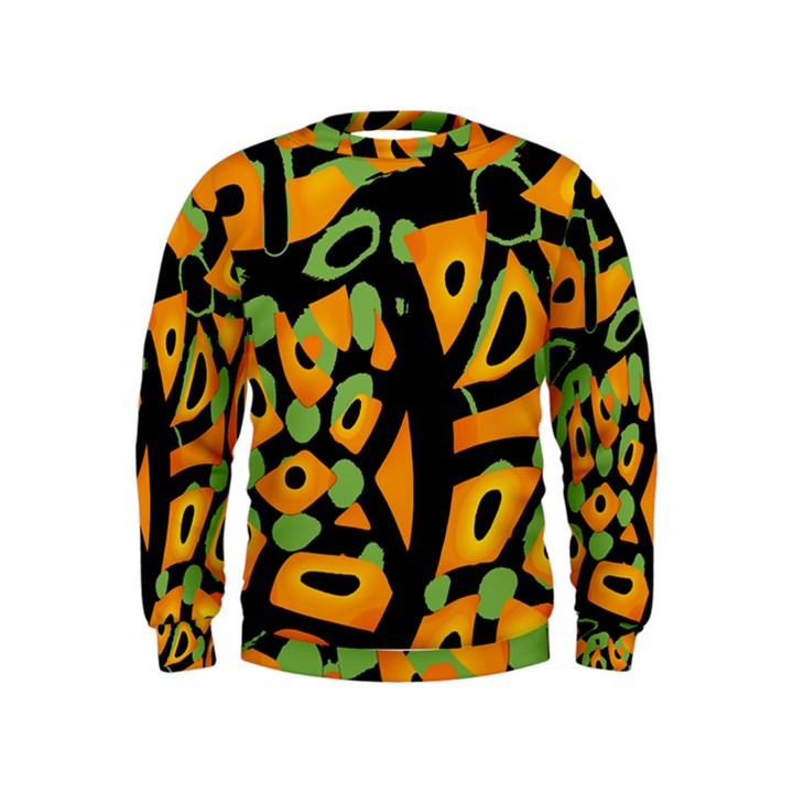 Abstract animal print Kids  Sweatshirt