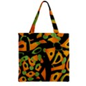 Abstract animal print Zipper Grocery Tote Bag View1