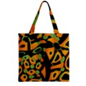 Abstract animal print Zipper Grocery Tote Bag View2