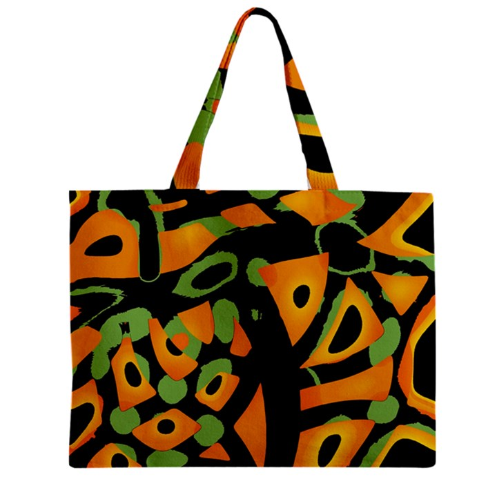 Abstract animal print Zipper Mini Tote Bag