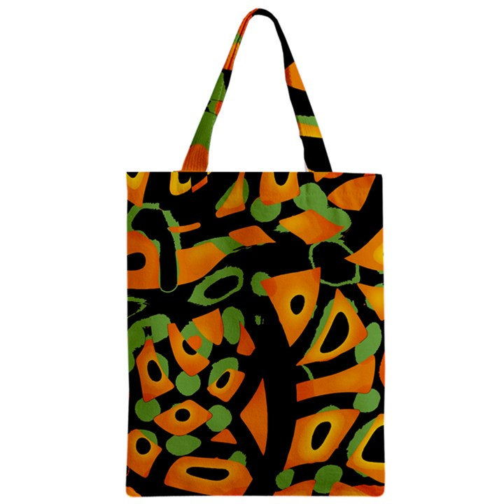 Abstract animal print Zipper Classic Tote Bag
