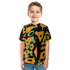 Abstract Animal Print Kids  Sport Mesh Tee