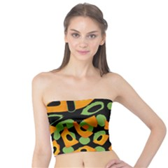 Abstract Animal Print Tube Top