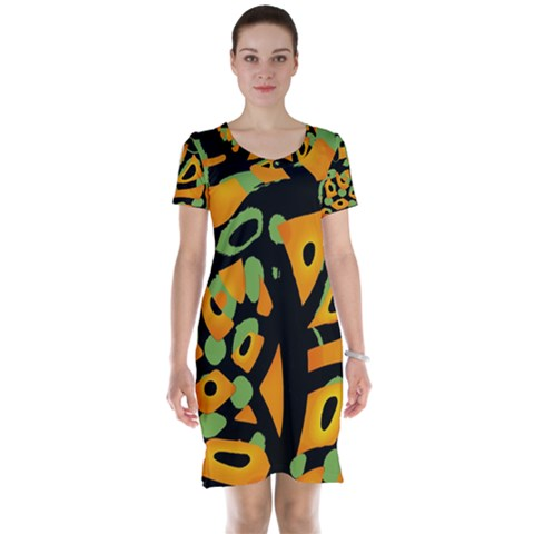 Abstract animal print Short Sleeve Nightdress
