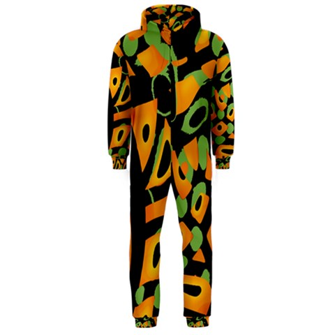 Abstract animal print Hooded Jumpsuit (Men)