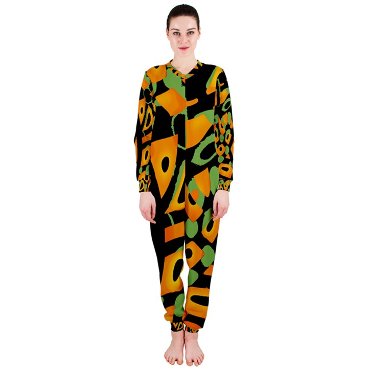 Abstract animal print OnePiece Jumpsuit (Ladies)