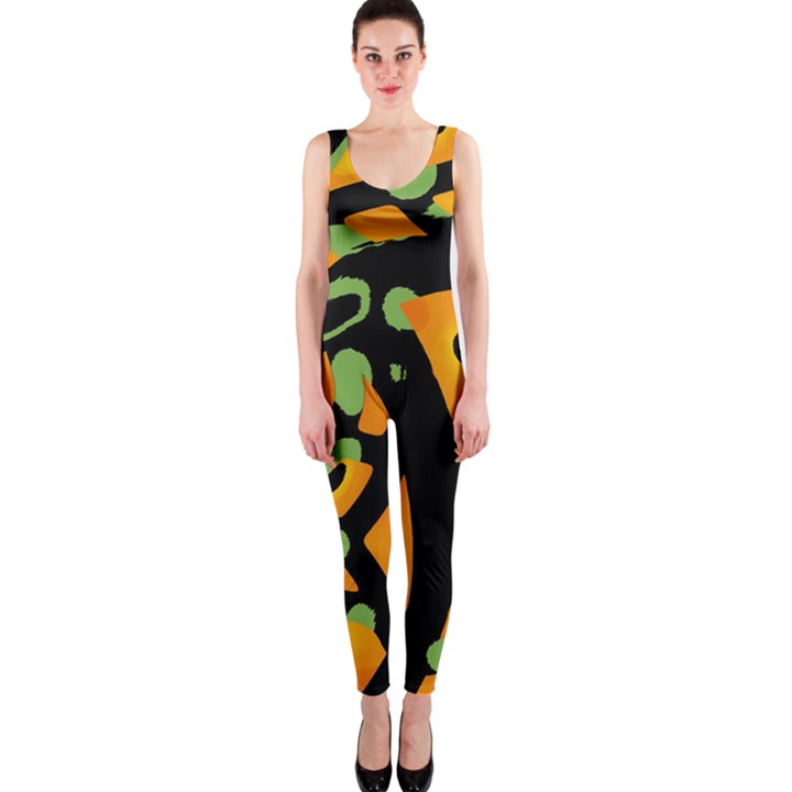 Abstract animal print OnePiece Catsuit