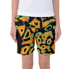 Abstract animal print Women s Basketball Shorts