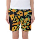 Abstract animal print Women s Basketball Shorts View1