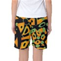 Abstract animal print Women s Basketball Shorts View2
