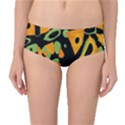 Abstract animal print Mid-Waist Bikini Bottoms View1